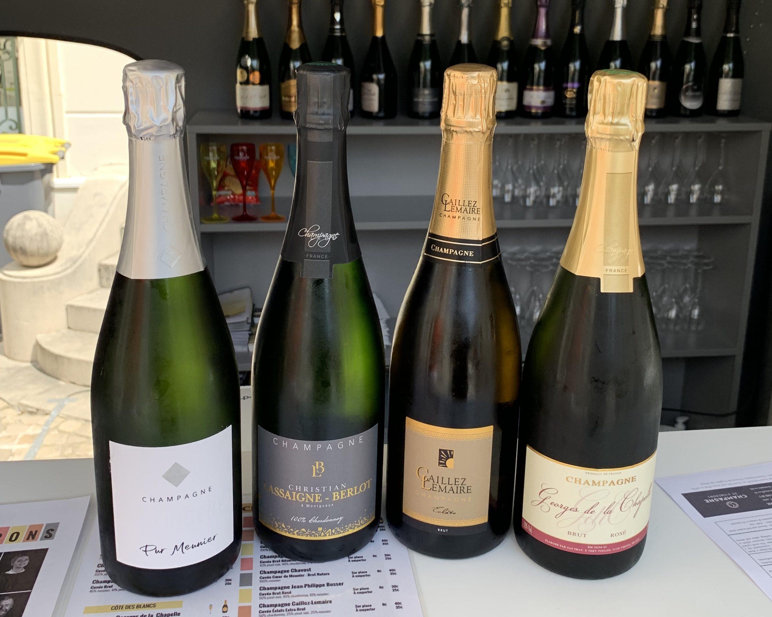 Champagnes à la coupe bar champagne de vignerons Epernay